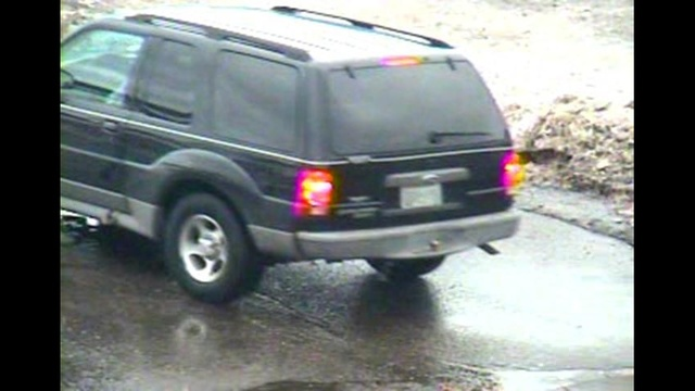 BP gas station robbery SUV