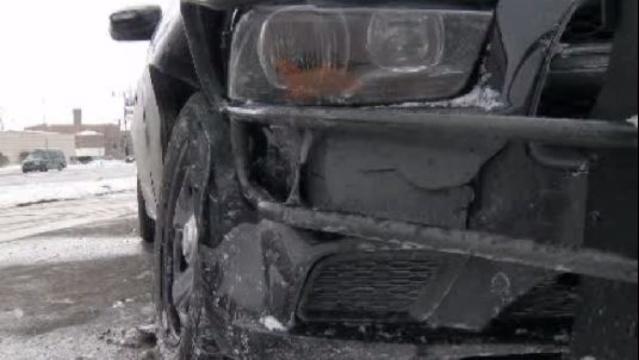 DPD DUI crash scene close up