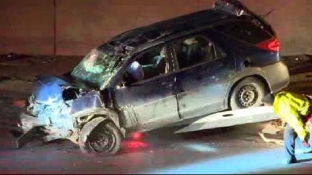 Fatal crash on NB I75 at Davison scene
