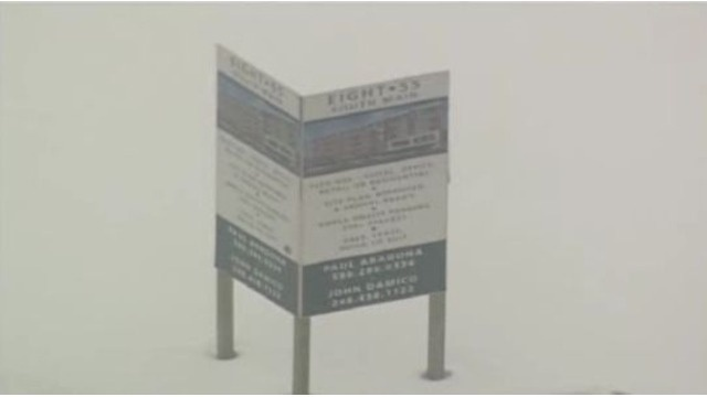 Developer's sign at the site