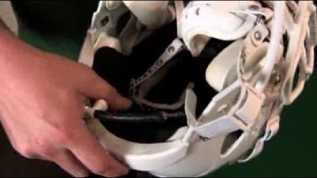 Inside of football helmet_26044272