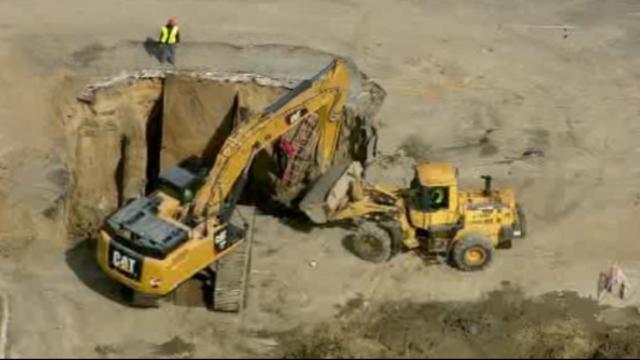 Linwood Detroit sinkhole repairs 1