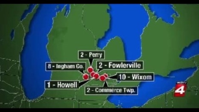Michigan roadway shootings incidents map