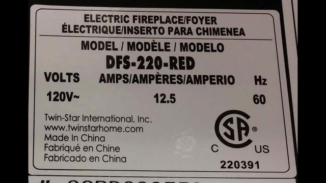 Recalled Duraflame lable_24837304