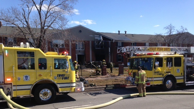 Troy apartment fire