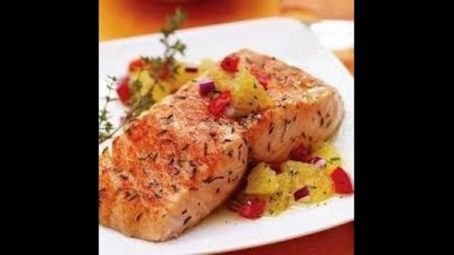 citrus salmon orange relish