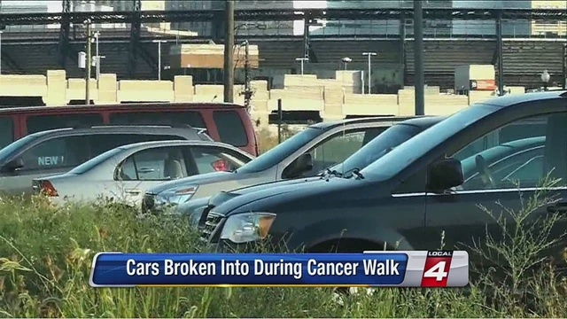 Video Thumbnail For Cars Broken Into During Cancer Walk In Detroit