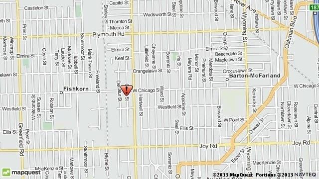 5 shot west Detroit map