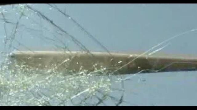 Baseball bat to windshield_15125742