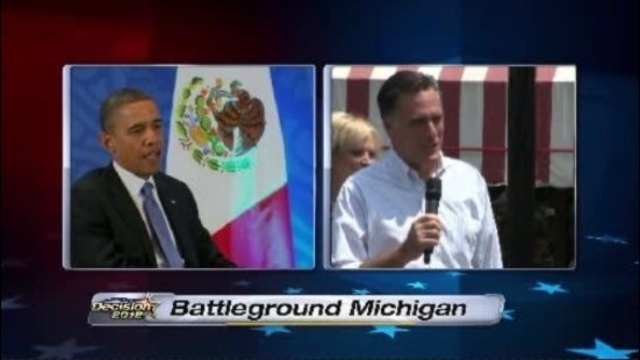 Battleground Michigan Romney and Obama 2012_15185252