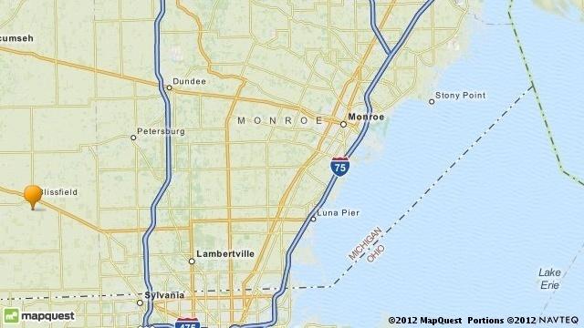 Blissfield Michigan map_17104178