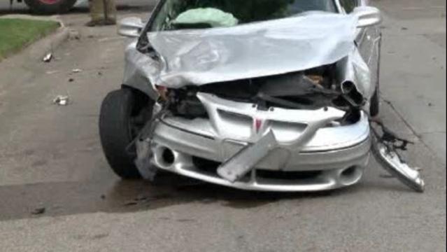 Car into house Detroit 2