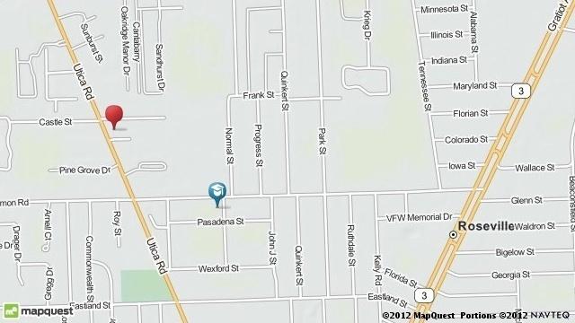 Castle Street Roseville map