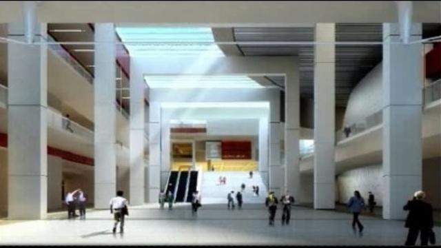 Detroit Cobo Center atrium 1