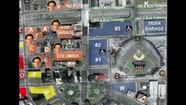 Detroit Tigers parking for Saturday night in Detroit