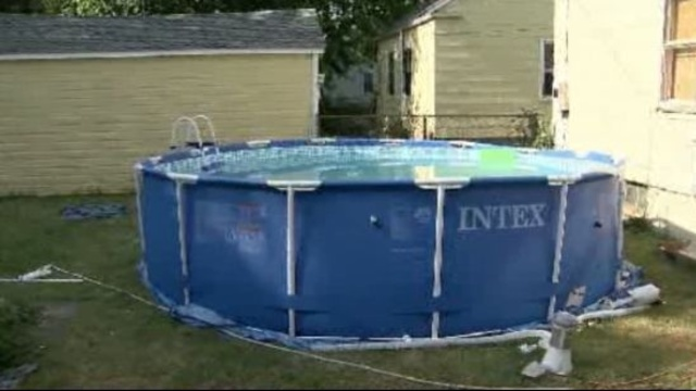 Detroit house pool where 2 year old boy drowned