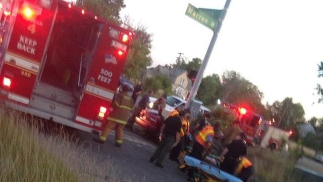 Detroit police chase crash 1