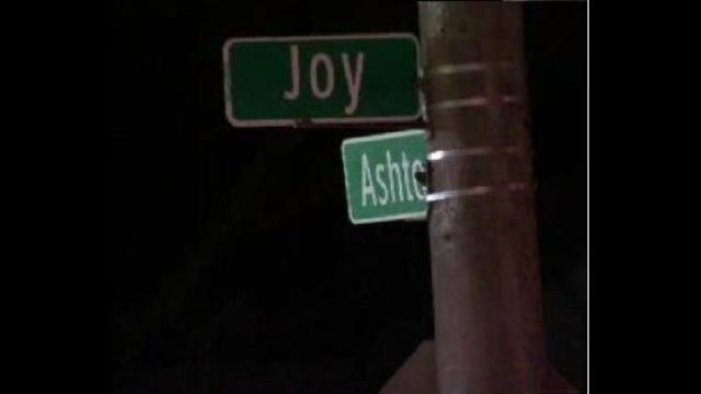 Corner of Joy and Ashton in Detroit_18486598