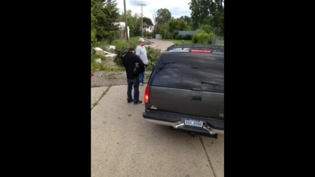 Illegal dumping in Detroit scene_21333344