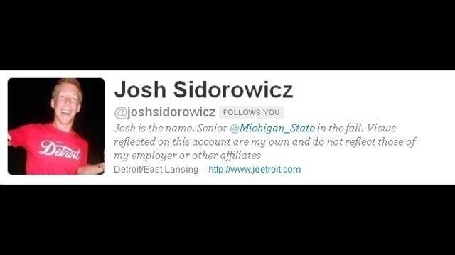 Josh Sidorowicz twitter