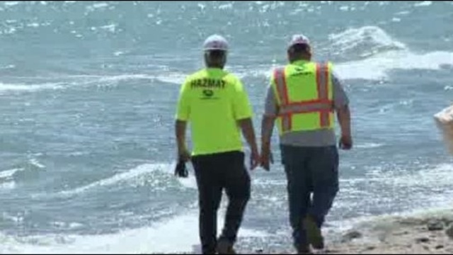Lake Huron beaches closed after barge sinks spills fuel_15623762