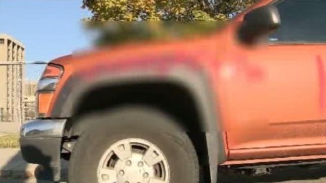 Matt Robb's truck graffiti