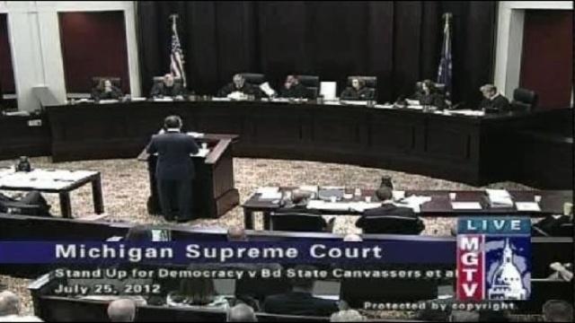 Michigan Supreme Court july 25