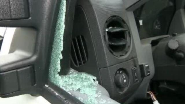 Payne Landscaping truck vandalized