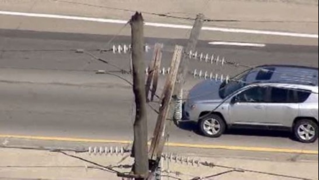 Power lines down M59 1