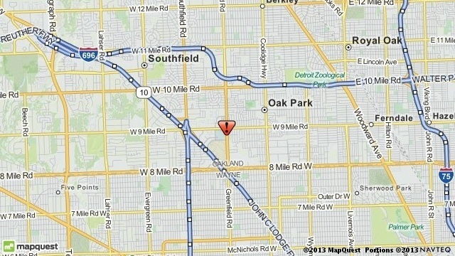 Southfield Police shooting static map_19286896