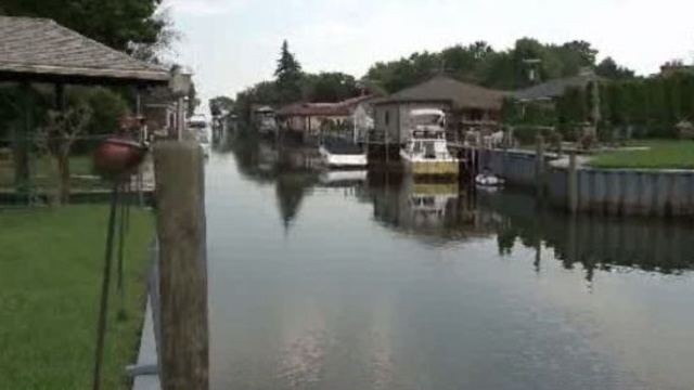 St Clair Shores canal where geese were killed