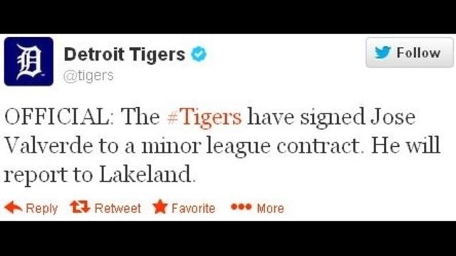 Tigers sign Valverde