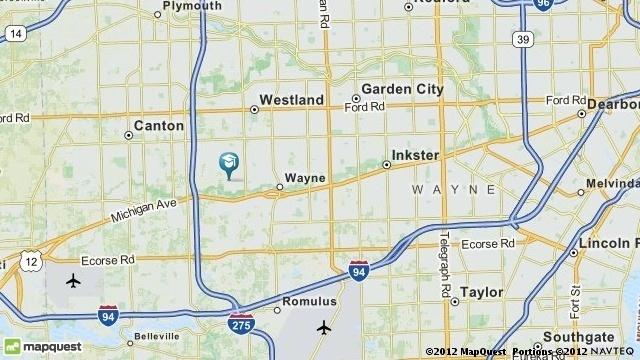 Westland Stevenson Middle School map