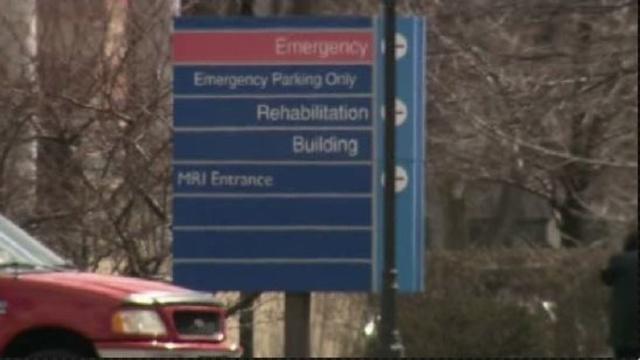 Hospital parking lot