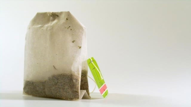green tea teabag