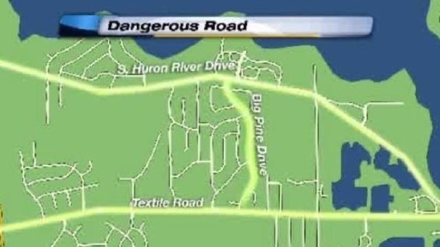 Big Pine Drive between Huron River Drive, Textile Road