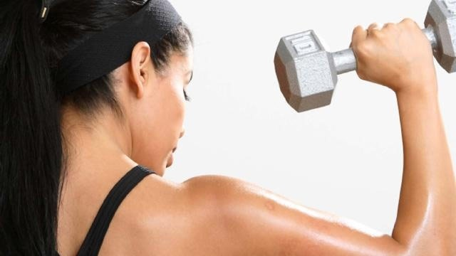 woman lifting dumbbells, exercise, fitness