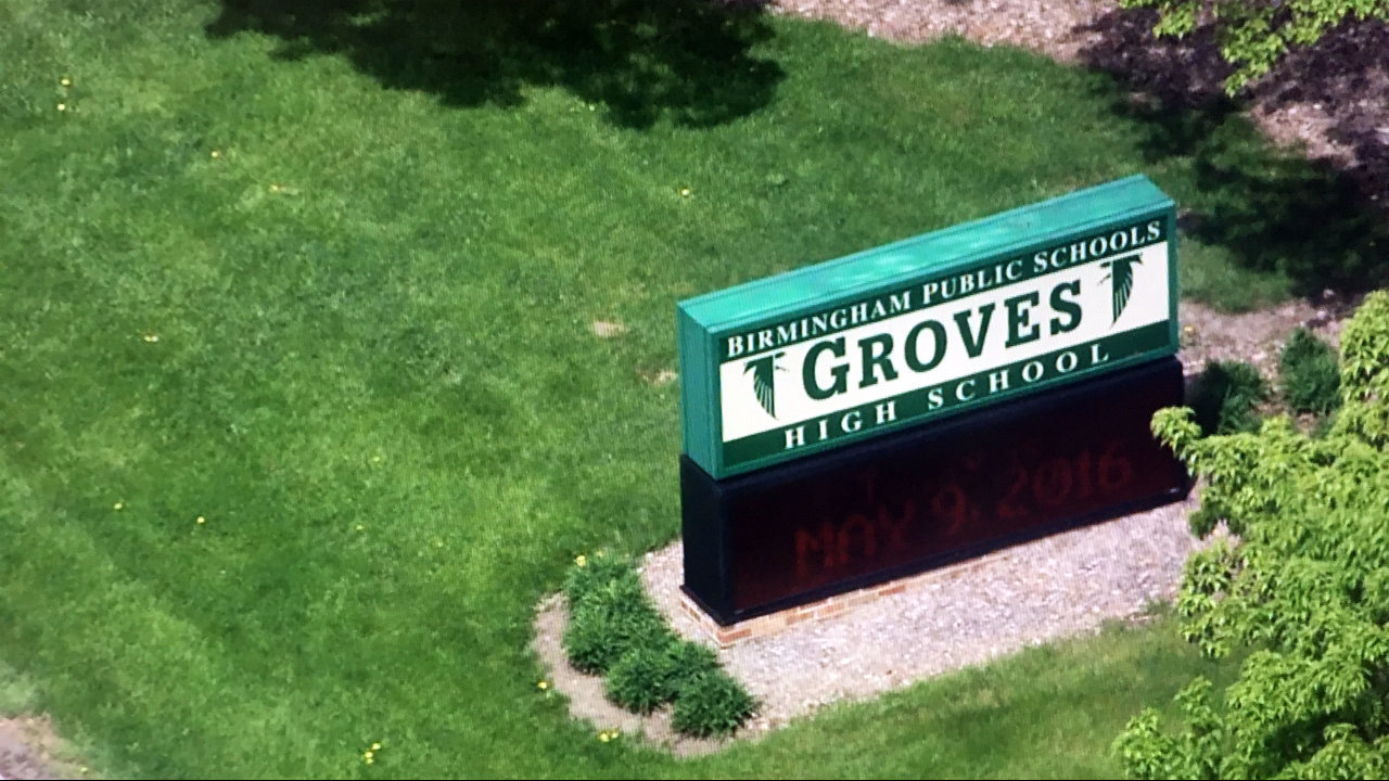 lockdown lifted at birmingham groves high school after police