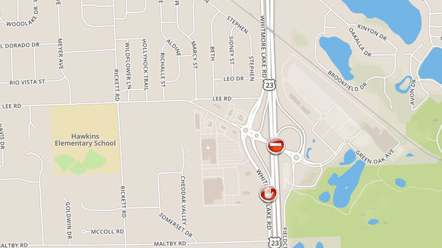 Northbound US Back Open At Lee Road In Livingston County - Us 23 map