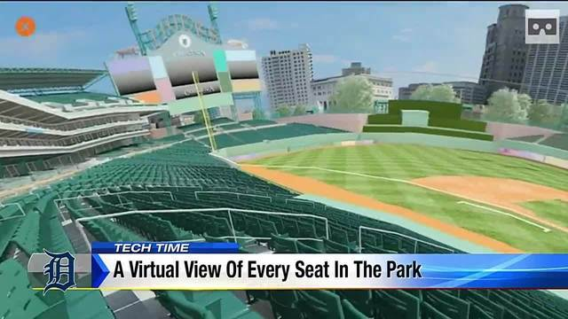 Virtual view available of every seat in Comerica Park
