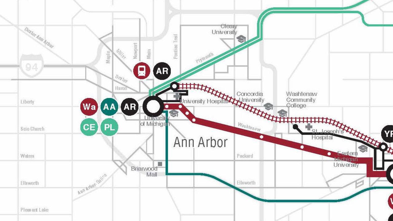 Rta S Transit Plan Links Ann Arbor To Detroit