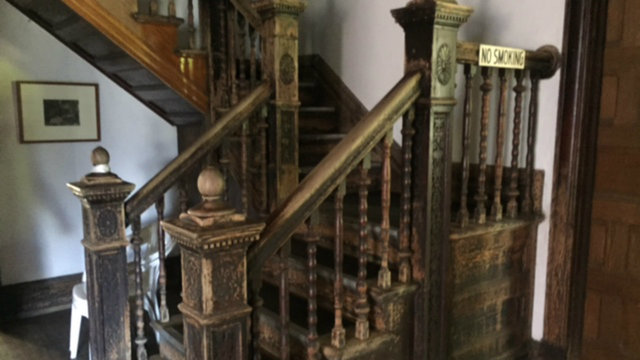 Detroit Log Cabin staircase