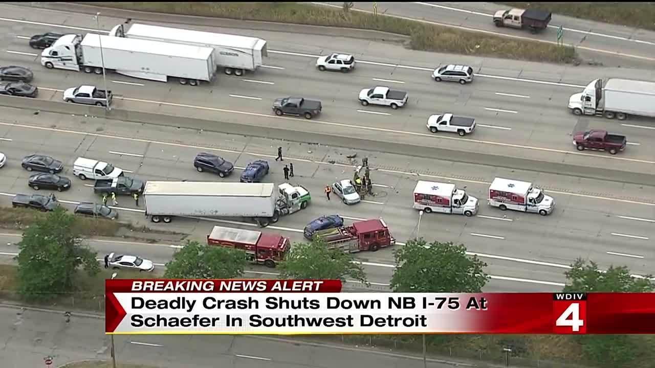 Fatal crash on northbound I-75 at Schaefer Road