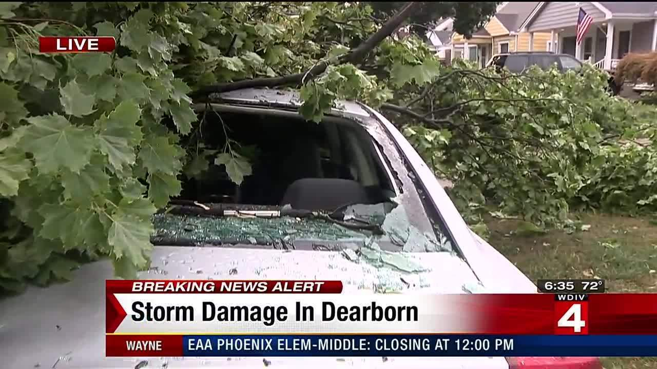 Early Morning Storms Wreak Havoc On Dearborn Neighborhood