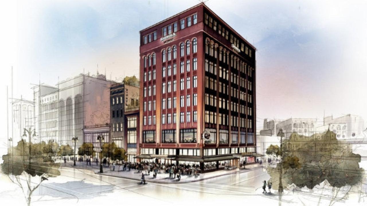 shinola boutique hotel planned for downtown detroit. Black Bedroom Furniture Sets. Home Design Ideas