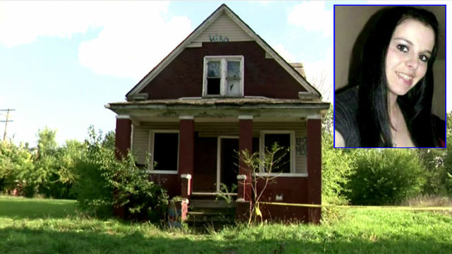 Amanda Lynn Benton and vacant house she was found in
