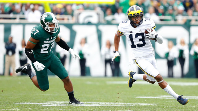 Eddie McDoom Michigan football vs Michigan State 2016