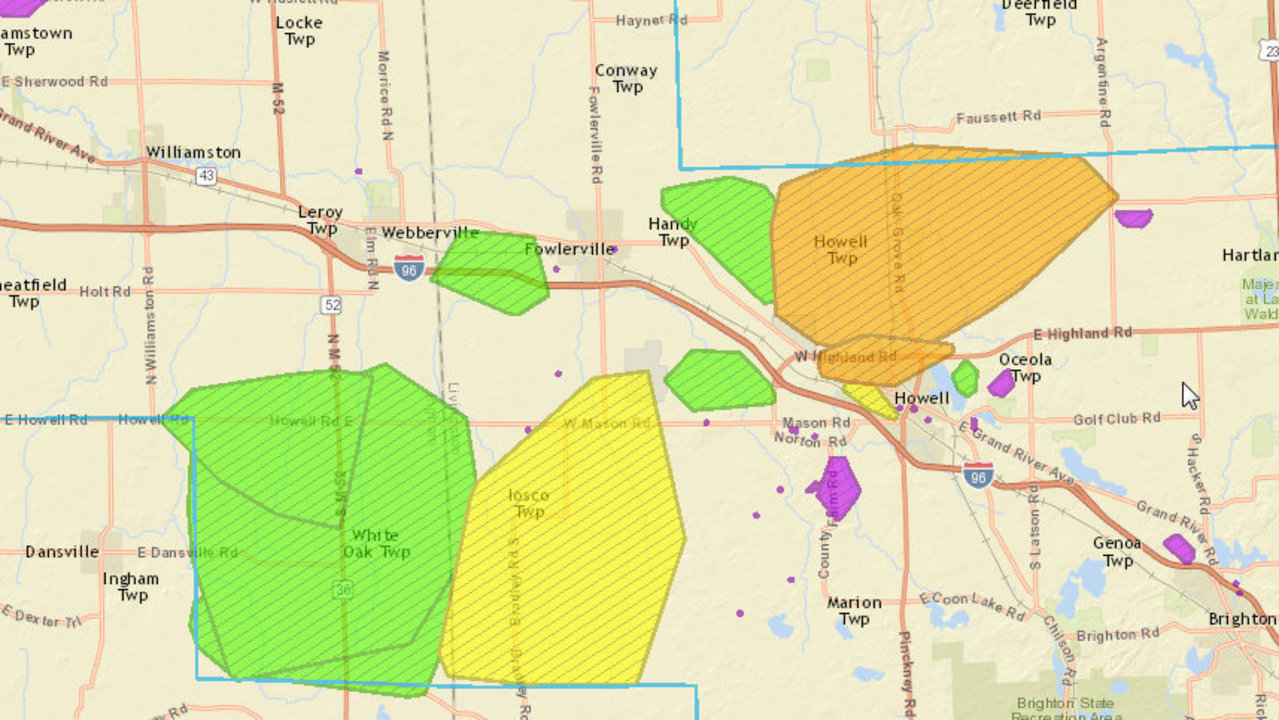Image Result For Dte Power Outage Map Michigan