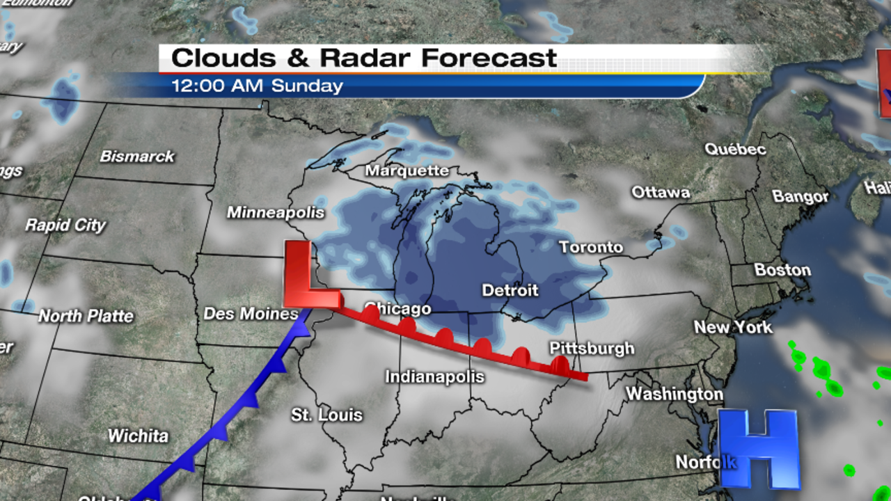 Metro Detroit Weather Forecast Winter Is Here - Us weather map for saturday
