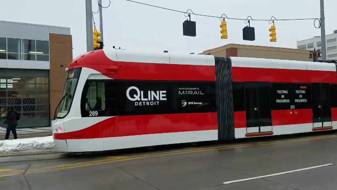 Qline Streetcar Debuts On Woodward Avenue